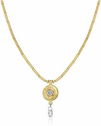 "Gurhan Droplet"" White Diamond High Karat Tube Pendant Necklace"
