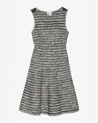 Parker Mesh Panel Flare Dress