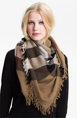 Women's Burberry Check Merino Wool Scarf $395 thestylecure.com