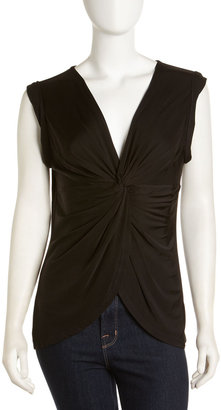 Robert Rodriguez Twisted Front Top, Black