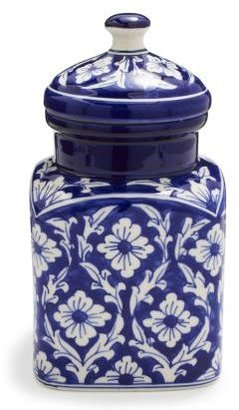 Sur La Table Floral Ceramic Canister, Medium