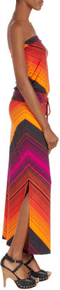 Julie Brown JB by Renee Chevron Strapless Maxi Dress, Orange/Cherry