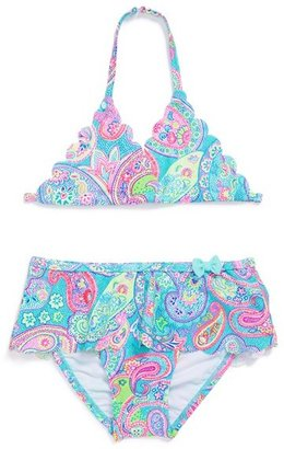 Hula Star 'Speckled Paisley' Two-Piece Swimsuit (Toddler Girls)