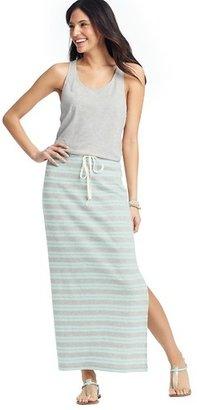 LOFT Striped Skirt Racerback Maxi Dress