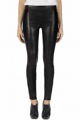 J Brand L8007 Leather Legging In Black