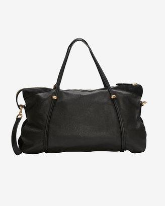 Nina Ricci Ballet Large Cervo Leather Satchel: Black