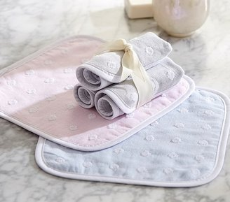 Pottery Barn Kids Dot Muslin/Terry Washcloth Set of 3