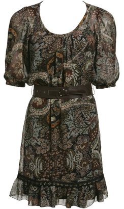 Charlotte Russe Belted Paisley Dress