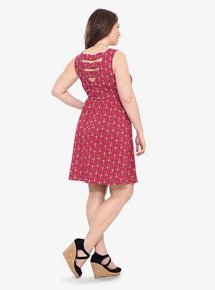Torrid Red Anchor Print Tank Dress