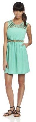My Michelle Juniors Mesh Top Dress