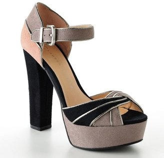 Lauren Conrad platform dress sandals
