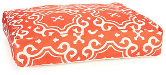 Medallion Dog Bed, Orange/White