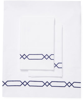 Lione Embroidered Cotton Sheet Set