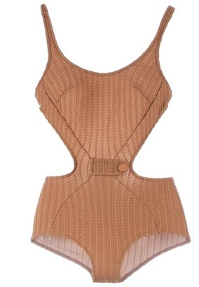 Adriana Degreas crochet cut-out swimsuit