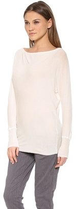 Alice + Olivia AIR by Boat Neck Slouchy Tee
