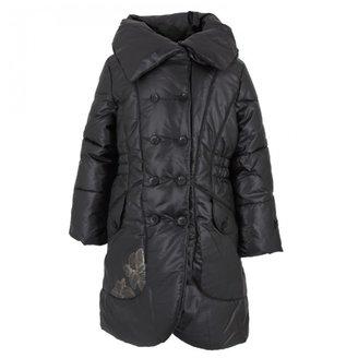Catimini Long black puffer coat