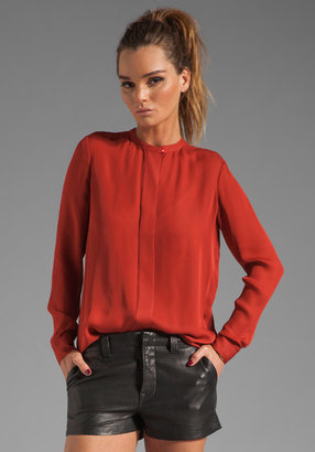Vince Silk Pleat Back Blouse