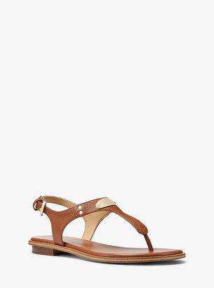 MICHAEL Michael Kors Logo Plaque Leather Sandal