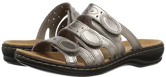 Clarks Leisa Cacti Q (Black Leather) Women's Sandals