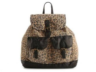 Poppie Jones Canvas Leopard Backpack