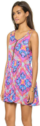 MinkPink Rainbow Wave Dress