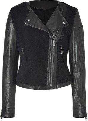 Ventcouvert Black Combo Leather Jacket