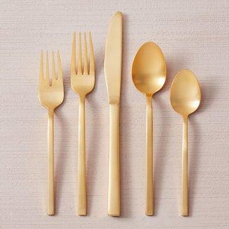 west elm Gold Flatware Set