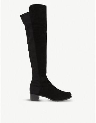 Stuart Weitzman Women's Black Reserve Suede Riding Boots, Size: EUR 35 / 2 UK WOMEN