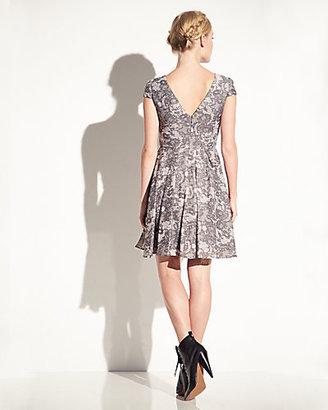 Betsey Johnson Allover Lace Cap Sleeve Dress
