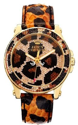 Juicy Couture Pedigree Brown Pave Leopard Watch