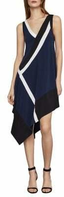BCBGMAXAZRIA Colourblock Handkerchief Shift Dress