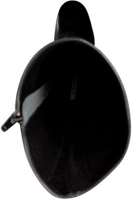 Diane von Furstenberg Leather Paula Boots in Black