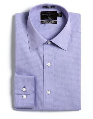 Black Brown 1826 Cotton Tailored-Fit Non-Iron Dress Shirt