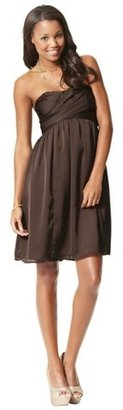 Women's Satin Strapless Bridesmaid Bridesmaid Dress Limited Availability Colors - TEVOLIO
