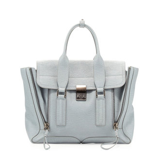 3.1 Phillip Lim Pashli Medium Zip Satchel Bag, Light Blue