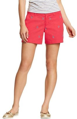"Old Navy Women's Everyday Printed-Khaki Shorts (5"")"