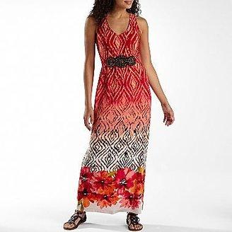 Robbie Bee Print Maxi Dress
