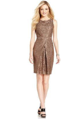 Jones New York Dress Jones New York Dress, Sleeveless Lace Pleated