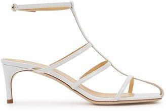 Giannico Kaya 65 White Patent Leather Sandals