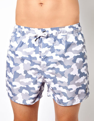 Camo Native Youth Bandana Swim Shorts