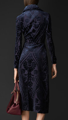 Burberry Tapestry Jacquard Fitted Coat