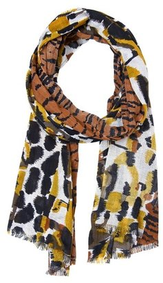 MANGO TOUCH - Animal print cotton foulard
