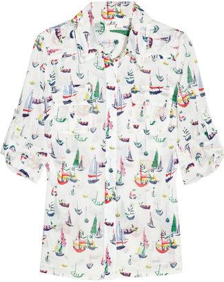 Milly Elisa sailboat-print cotton shirt