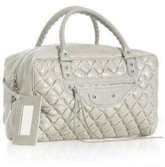 Balenciaga white quilted goatskin 'Matelasse' large bag