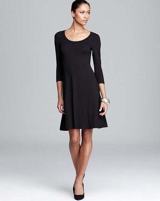 Karen Kane Three Quarter Sleeve A-Line Dress $89 thestylecure.com