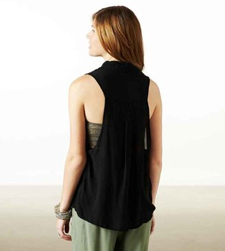 American Eagle AE Effortlessly Chic Button Down Tank