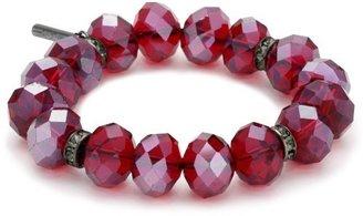 "Kenneth Cole New York ""Modern Garnet"" Faceted Bead Stretch Bracelet"