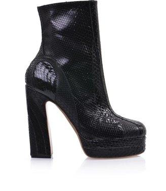 Rochas Python high-heel boots