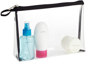 Container Store Clear Quart-Sized Zippered Pouch