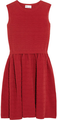 RED Valentino Scalloped stretch-knit cotton dress